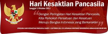 Hari Kesaktian Pancasila 1 Oktober